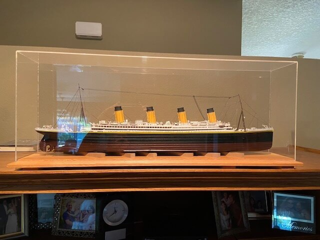 model ship titanic ron baluch custom display case