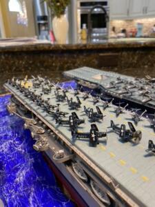 aircraft carrier close up