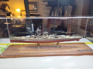 battle ship custom display case