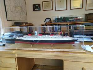 Normande Model Ship Display Case