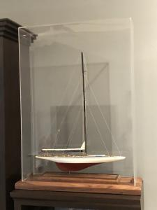 Sailboat model ship display case 3