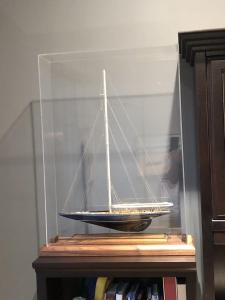 Sailboat model ship display case 2