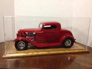 Burgin's model automobile in case