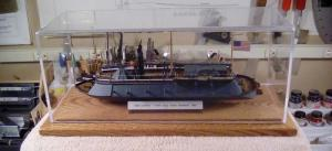 USS Cairo Model Ship Display Case