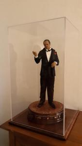 The Godfather in a collectible display case