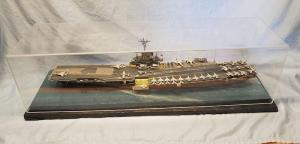 The Intrepid Model Ship Display case
