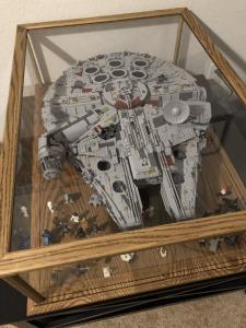 The Millennium Falcon Lego Display Case