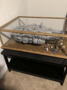 The Millennium Falcon Lego Display Case