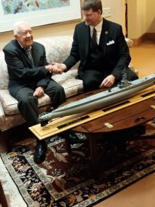 President Jimmy Carter and David Barker
