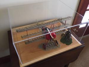 red bar in a model display case