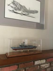 The Connie in a display case for model ships